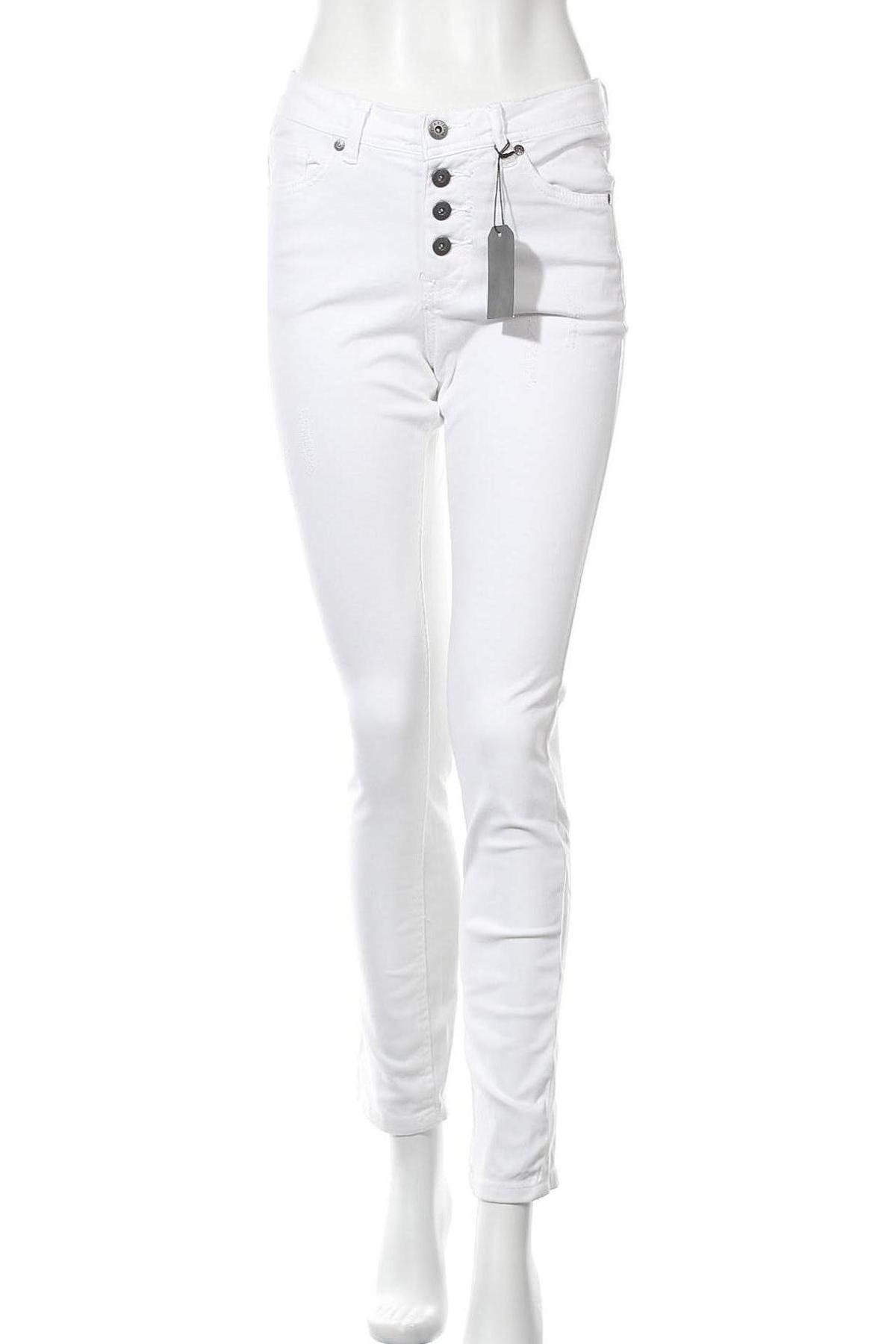 Дамски панталон Arizona, Размер S, Цвят Бял, 98% памук, 2% еластан, Цена 16,56лв.