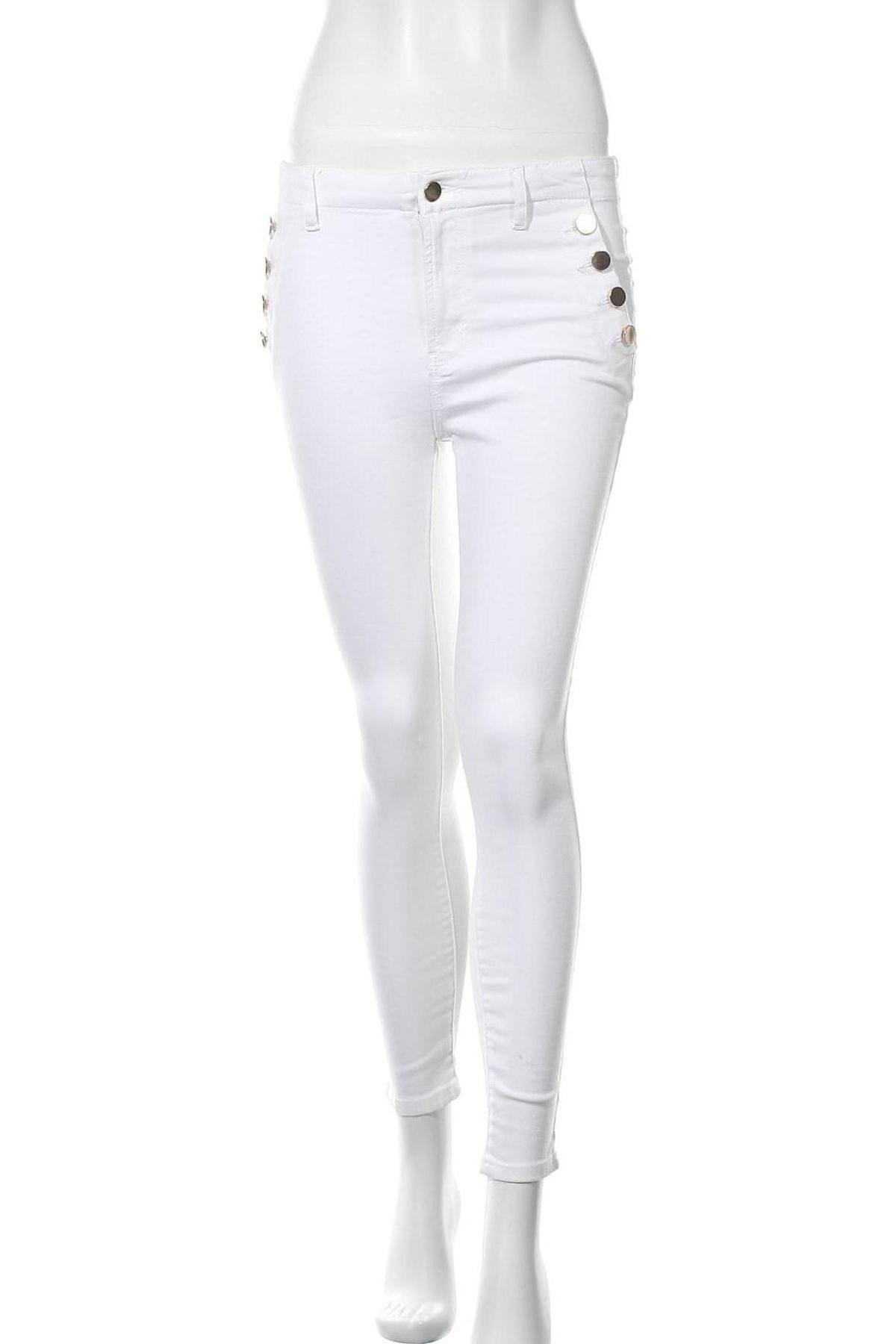 Дамски панталон Vivance, Размер M, Цвят Бял, 97% памук, 3% еластан, Цена 14,80лв.