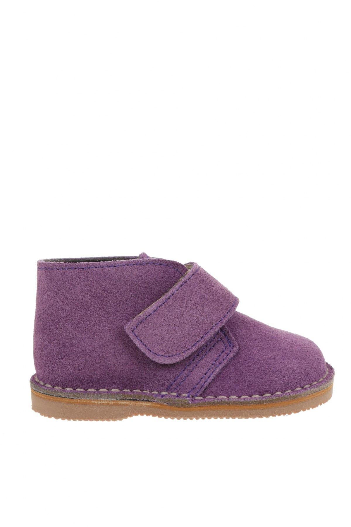 Детски обувки Little Celebs, Размер 20, Цвят Лилав, Естествен велур, Цена 18,88лв.