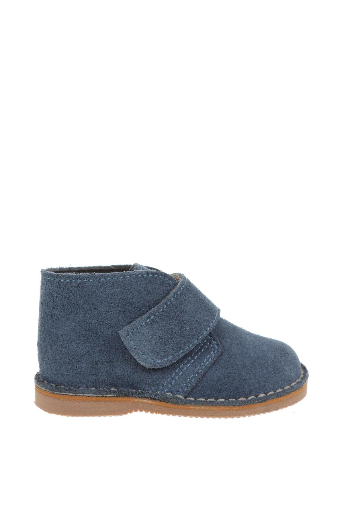 Детски обувки Little Celebs, Размер 20, Цвят Син, Естествен велур, Цена 18,63лв.