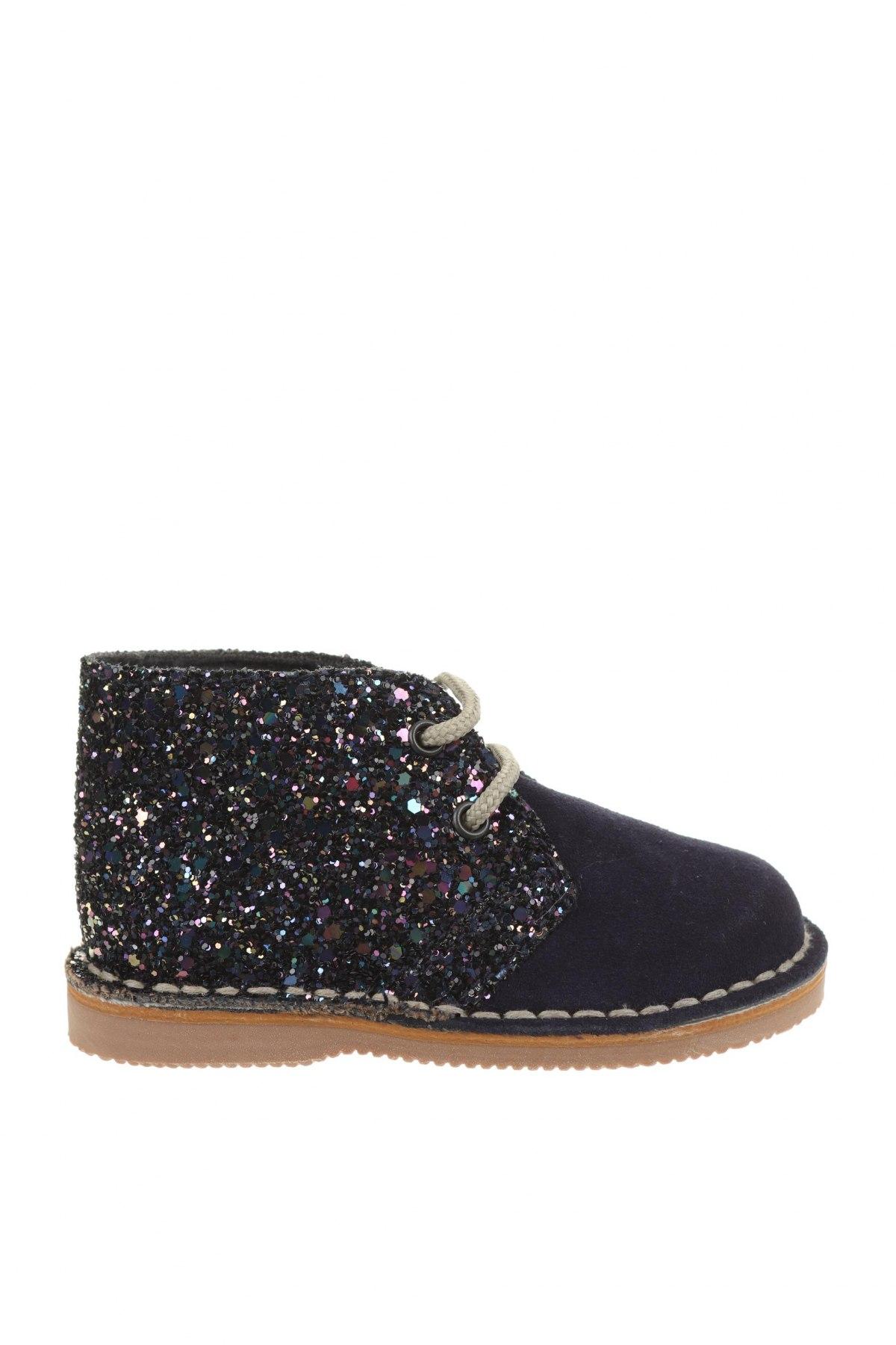 Детски обувки Little Celebs, Размер 20, Цвят Син, Естествен велур, текстил, Цена 18,26лв.