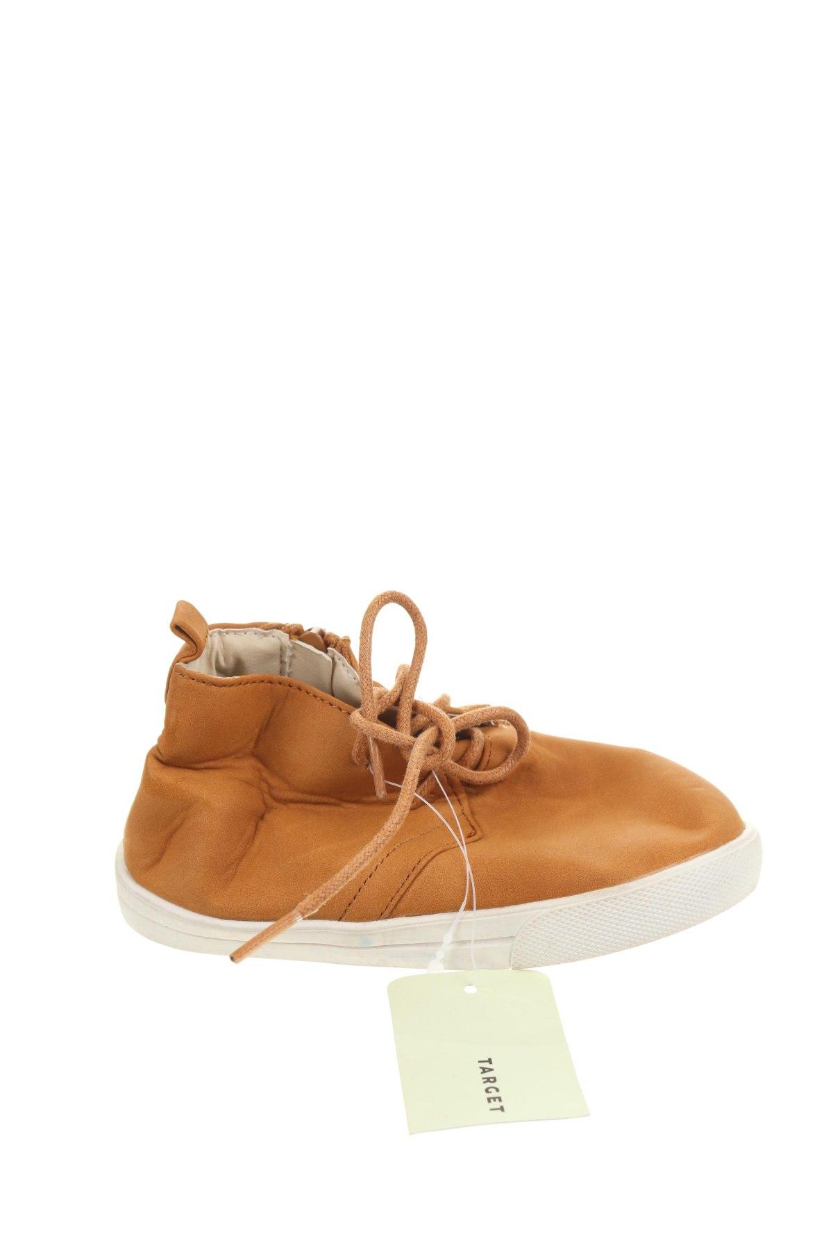 Детски обувки Target, Размер 17, Цвят Кафяв, Еко кожа, Цена 15,02лв.