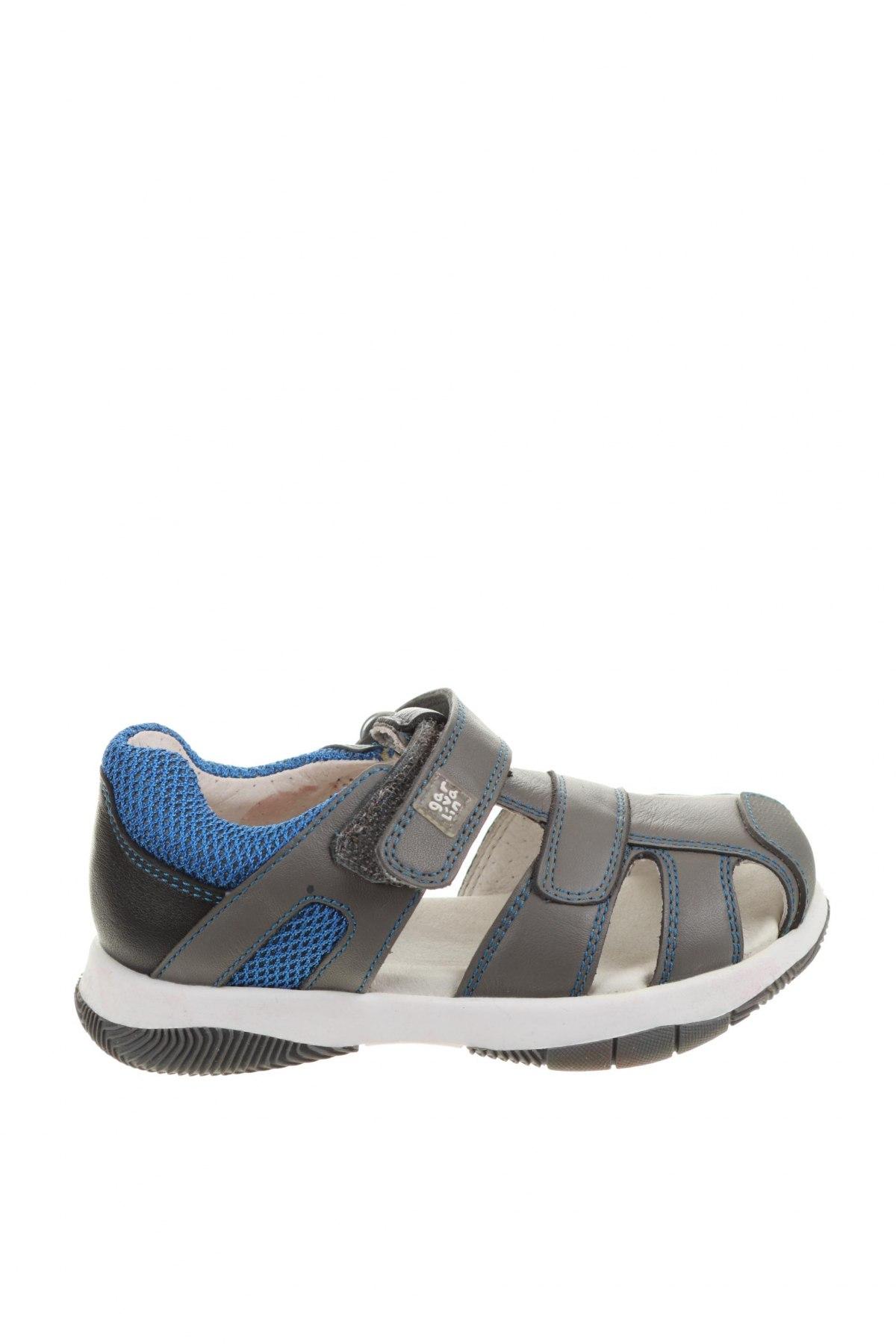 Детски сандали Garvalin, Размер 24, Цвят Сив, Естествена кожа, Цена 61,50лв.