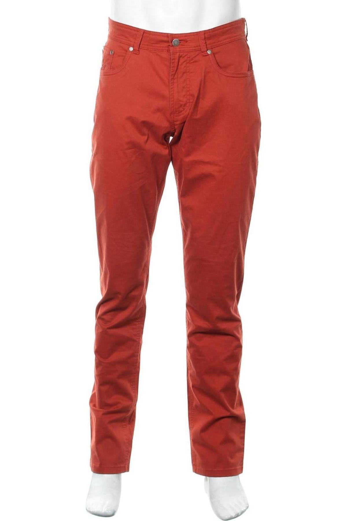 Мъжки панталон Christian Berg, Размер L, Цвят Червен, 97% памук, 3% еластан, Цена 57,00лв.