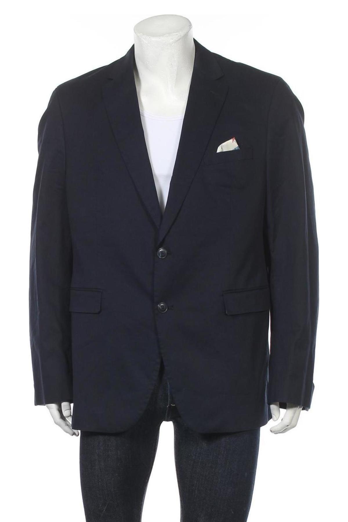Мъжко сако Christian Berg, Размер XL, Цвят Син, 98% памук, 2% еластан, Цена 91,50лв.