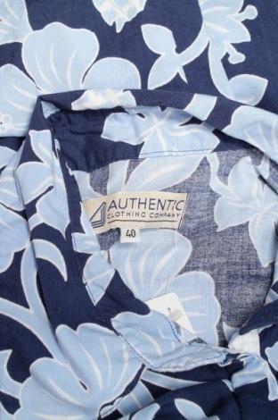 Γυναικείο πουκάμισο Authentic, Μέγεθος L, Χρώμα Μπλέ, Βαμβάκι, Τιμή 11,38€