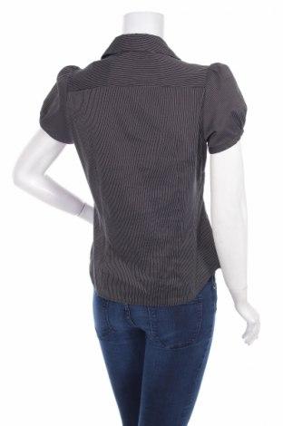 Γυναικείο πουκάμισο F&F, Μέγεθος M, Χρώμα Μαύρο, 59% βαμβάκι, 26% πολυαμίδη, 8% πολυεστέρας, 7% βισκόζη, Τιμή 11,86€
