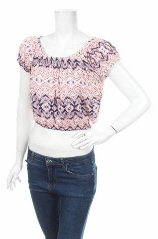 Дамска блуза About A Girl, Размер L, Цвят Многоцветен, 95% вискоза, 5% еластан, Цена 4,50лв.