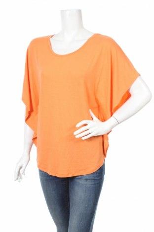Дамска блуза Flame, Размер S, Цвят Оранжев, 63% полиестер, 33% вискоза, 4% еластан, Цена 4,00лв.