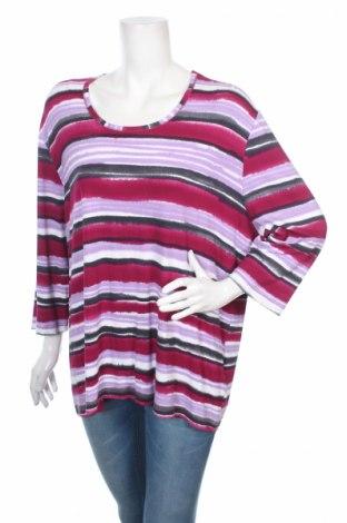 Дамска блуза Gina Laura, Размер 4XL, Цвят Многоцветен, 95% вискоза, 5% еластан, Цена 9,60лв.