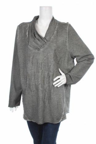 Дамска блуза Gina Laura, Размер 3XL, Цвят Сив, Памук, Цена 7,35лв.