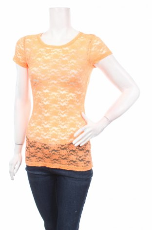 Дамска блуза H&M Conscious Collection, Размер XS, Цвят Оранжев, 51% полиестер, 37% полиамид, 12% еластан, Цена 4,25лв.