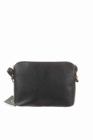 Γυναικεία τσάντα Anna Morellini, Χρώμα Μαύρο, Γνήσιο δέρμα, Τιμή 110,16€