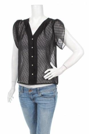 Дамска риза H&M, Размер M, Цвят Черен, 100% полиестер, Цена 7,80лв.