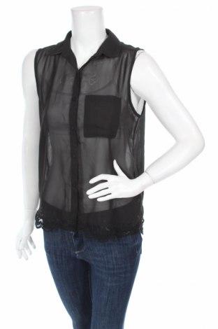 Дамска риза Jennifer Taylor, Размер M, Цвят Черен, 100% полиестер, Цена 2,00лв.