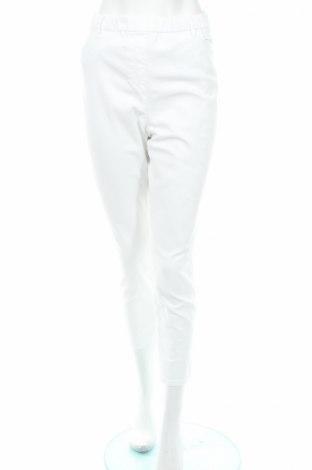 Дамски панталон Gina Laura, Размер XL, Цвят Бял, 58% памук, 39% полиестер, 3% еластан, Цена 15,60лв.