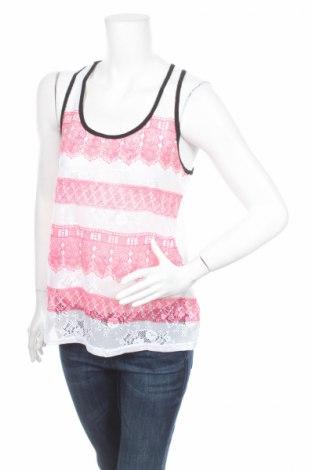Γυναικείο αμάνικο μπλουζάκι Rainbow, Μέγεθος M, Χρώμα Λευκό, 100% πολυεστέρας, Τιμή 5,16€