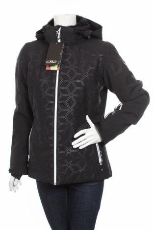 Дамско яке за зимни спортове Cmp, Размер M, Цвят Черен, 90% полиестер, 10% еластан, Цена 115,68лв.
