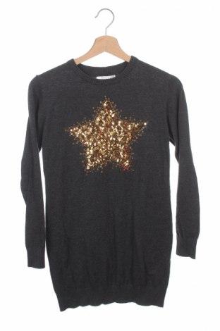Детски пуловер KappAhl, Размер 10-11y/ 146-152 см, Цвят Сив, 30% вискоза, 30% полиамид, 20% полиестер, Цена 7,80лв.