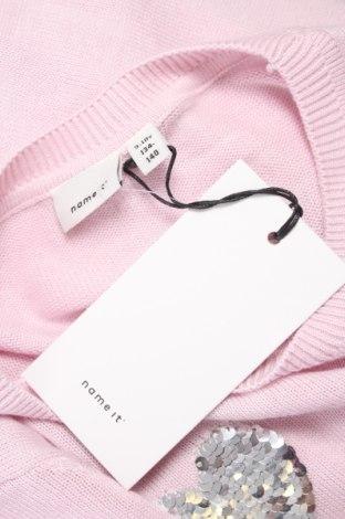 Детски пуловер Name It, Размер 8-9y/ 134-140 см, Цвят Розов, 60% вискоза, 40% памук, Цена 27,95лв.