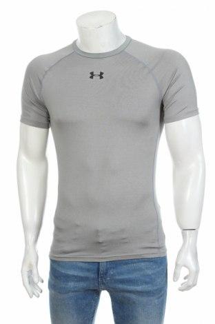 Мъжка тениска Under Armour, Размер L, Цвят Сив, 84% полиестер, 16% еластан, Цена 20,40лв.