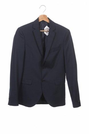 Sacou de bărbați Premium By Jack & Jones, Mărime S, Culoare Albastru, 56% poliester, 41% viscoză, 3% elastan, Preț 105,19 Lei