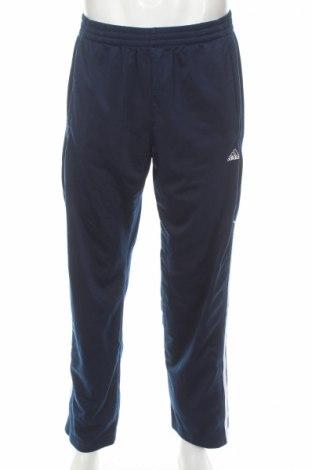 Мъжко спортно долнище Adidas, Размер L, Цвят Син, Полиестер, Цена 27,20лв.