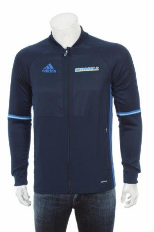 Мъжко спортно горнище Adidas, Размер S, Цвят Син, Полиестер, Цена 34,00лв.