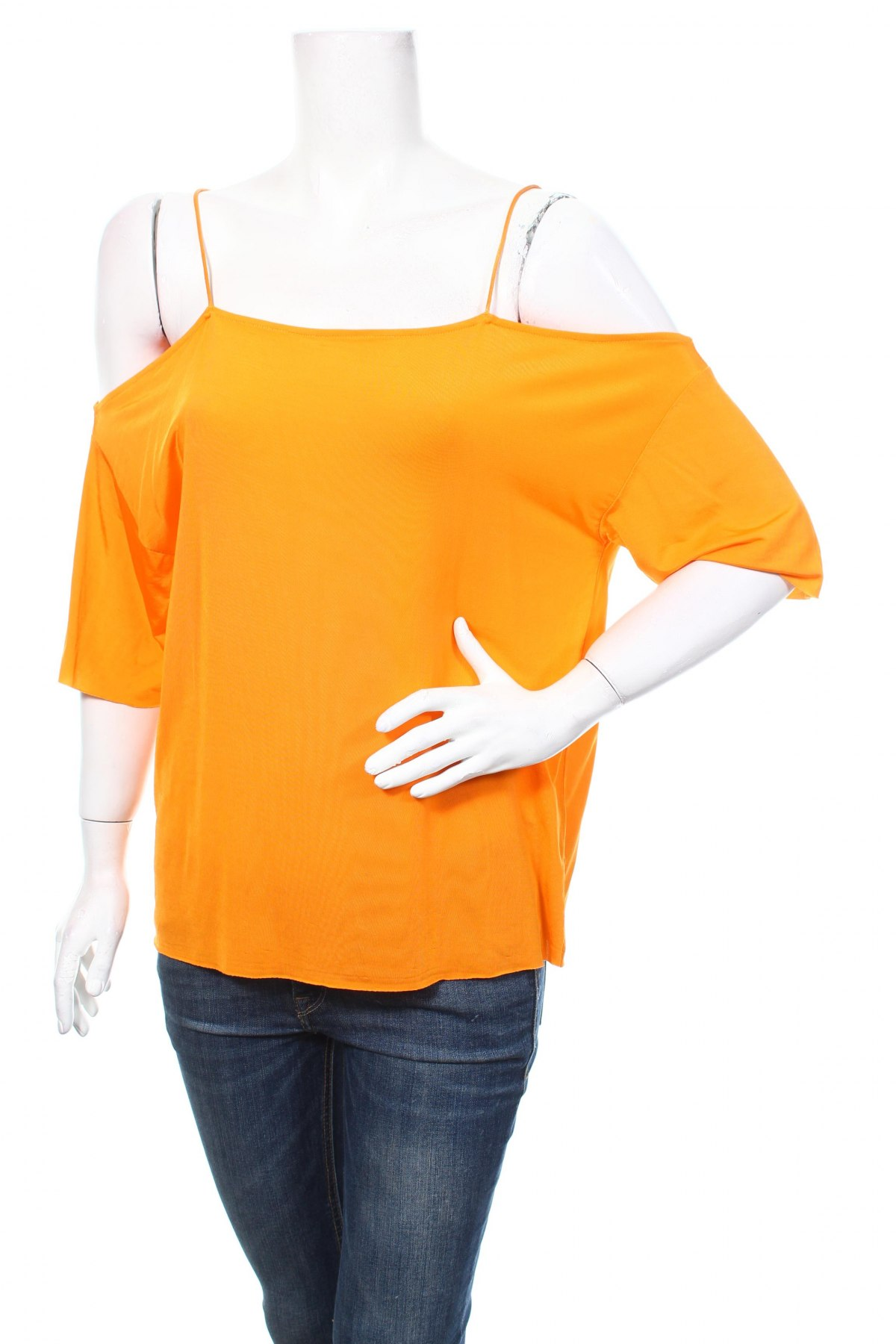 Дамска блуза Cheap Monday, Размер S, Цвят Оранжев, 95% вискоза, 5% еластан, Цена 54,90лв.