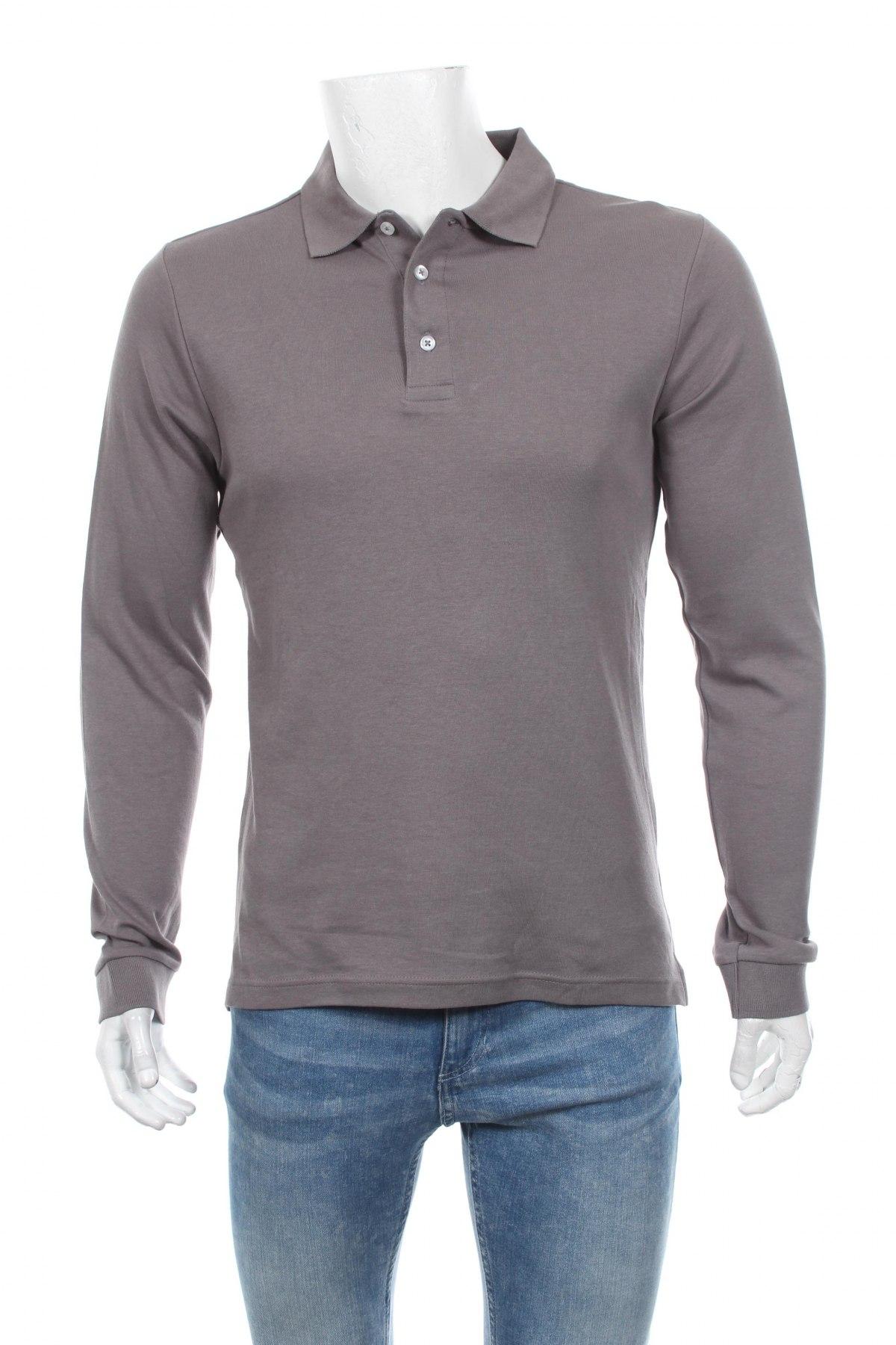 Мъжка блуза Montego, Размер M, Цвят Сив, 100% памук, Цена 29,25лв.