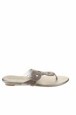 Papuci de casă Bpc Bonprix Collection, Mărime 42, Culoare Argintiu, Piele ecologică, Preț 80,69 Lei