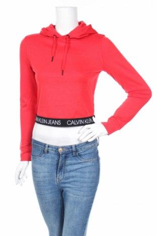 Bluză de femei Calvin Klein Jeans, Mărime S, Culoare Roșu, 77% poliester, 19% viscoză, 4% elastan, Preț 147,79 Lei