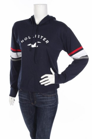 Bluză de femei Hollister, Mărime M, Culoare Albastru, 60% bumbac, 40% poliester, Preț 102,32 Lei