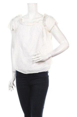 Дамска блуза Miss Shop, Размер M, Цвят Бежов, 98% памук, 2% метални нишки, Цена 4,37лв.