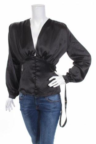 Дамска риза Club L, Размер S, Цвят Черен, Полиестер, Цена 21,60лв.