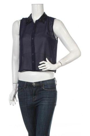 Дамска риза Girl Xpress, Размер M, Цвят Син, Полиестер, Цена 4,64лв.