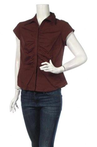 Дамска риза Veronika Maine, Размер L, Цвят Кафяв, 98% памук, 2% еластан, Цена 14,70лв.