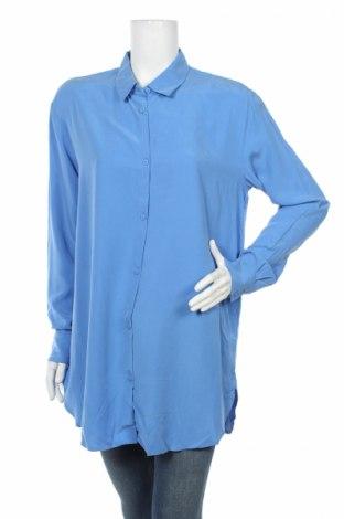 Дамска риза Weekday, Размер S, Цвят Син, Модал, Цена 14,56лв.