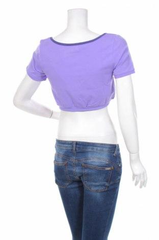 Дамска спортна блуза Reebok, Размер XL, Цвят Лилав, 95% памук, 5% еластан, Цена 7,66лв.