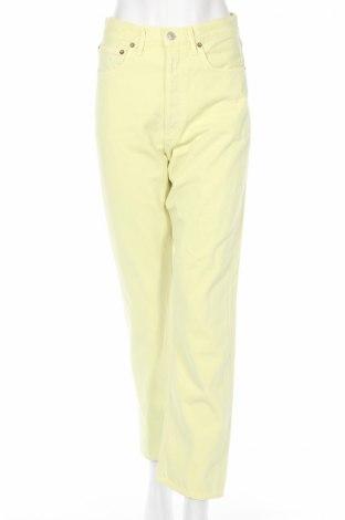 Дамски дънки Agolde, Размер M, Цвят Жълт, Памук, Цена 100,17лв.