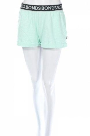 Дамски къс панталон Bonds, Размер M, Цвят Зелен, Памук, полиестер, Цена 11,03лв.