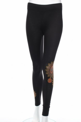 Női leggings Desigual, Méret S, Szín Fekete, 95% pamut, 5% elasztán, Ár 14720 Ft