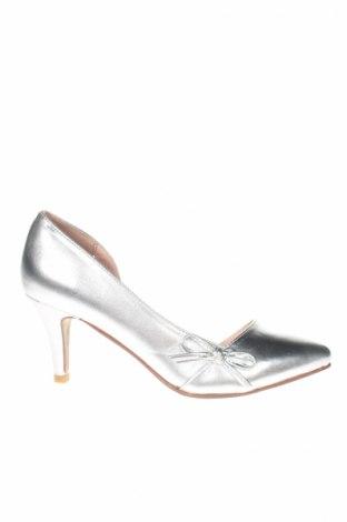 Γυναικεία παπούτσια Bodyflirt, Μέγεθος 36, Χρώμα Ασημί, Δερματίνη, Τιμή 12,99€