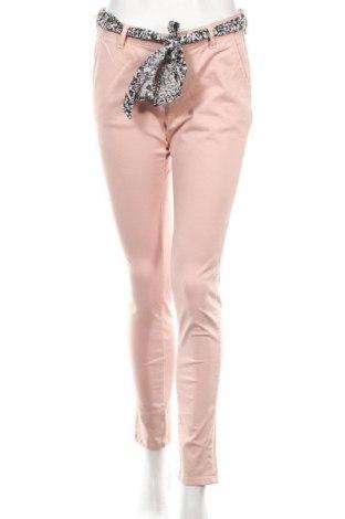 Дамски панталон Le Temps Des Cerises, Размер M, Цвят Розов, 98% памук, 2% еластан, Цена 41,70лв.