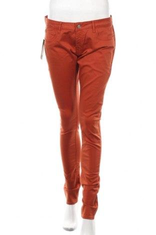 Дамски панталон Le Temps Des Cerises, Размер XS, Цвят Кафяв, 98% памук, 2% еластан, Цена 21,60лв.