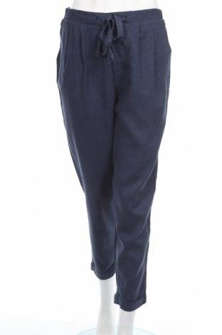 Dámské kalhoty  Springfield, Rozměr L, Barva Modrá, 87% viskóza, 13% len, Cena  572,00Kč
