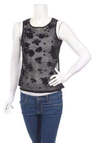 Γυναικείο αμάνικο μπλουζάκι Ashley Brooke, Μέγεθος S, Χρώμα Μαύρο, Τιμή 4,77€