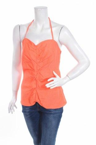 Γυναικείο αμάνικο μπλουζάκι Capasca, Μέγεθος M, Χρώμα Πορτοκαλί, 53% βισκόζη, 32% βαμβάκι, 15% πολυεστέρας, Τιμή 3,57€