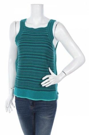 Дамски пуловер Loft By Ann Taylor, Размер L, Цвят Син, 89% памук, 11% вискоза, Цена 8,84лв.