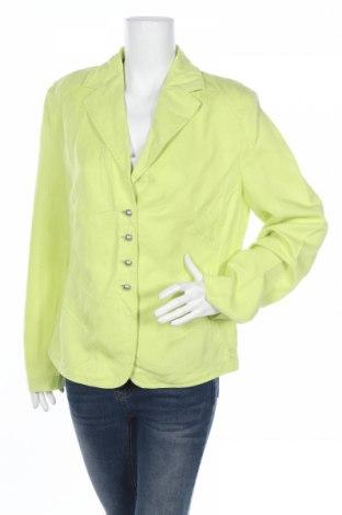 Γυναικείο σακάκι Apriori, Μέγεθος L, Χρώμα Πράσινο, 97% βαμβάκι, 3% ελαστάνη, Τιμή 4,19€
